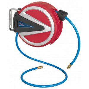 Sealey SA811 Retractable Air Hose Reel 6.5mtr 6.5mm ID PU Hose-0