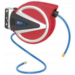 Sealey SA813 Retractable Air Hose Reel 10mtr 8mm ID PU Hose-0