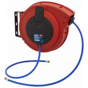 Sealey SA895 Retractable Air Hose Reel HD Mechanism 10mtr Ø10mm ID PU Hose-0