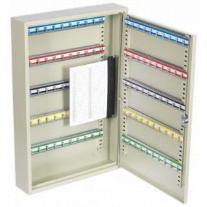 Sealey SKC100 Key Cabinet 100 Key Capacity-0