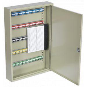 Sealey SKC50 Key Cabinet 50 Key Capacity-0