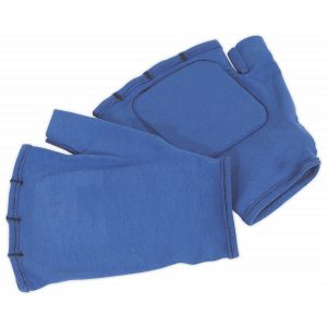 Sealey SSP42 Safety Gloves Fingerless Vibration Absorbing - Large Pair-0