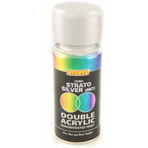 Hycote Ford Strato Silver Metallic Double Acrylic Spray Paint 150Ml Xdfd409-0