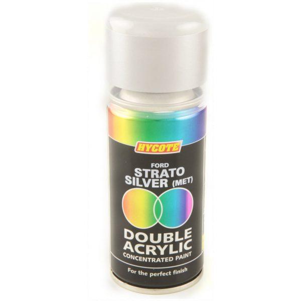 Hycote Ford Strato Silver Metallic Double Acrylic Spray Paint 150Ml Xdfd409-0
