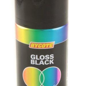 Hycote Gloss Black Double Acrylic Spray Paint 150Ml Xdpb904-0