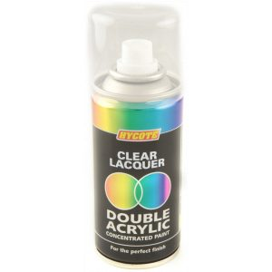 Hycote Clear Lacquer Double Acrylic Spray Paint 150Ml Xdpb908-0