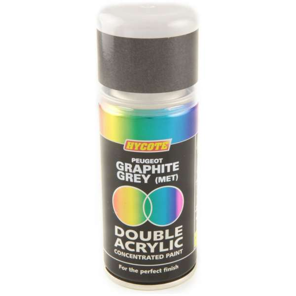 Hycote Peugeot Graphite Grey Metallic Double Acrylic Spray Paint 150Ml Xdpg403-0