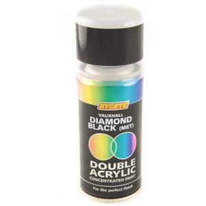 Hycote Vauxhall Diamond Black Metallic Double Acrylic Spray Paint 150Ml Xdvx410-0