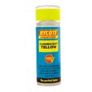 Hycote Fluorescent Yellow Safety Spray Paint 400Ml Xuk472-0