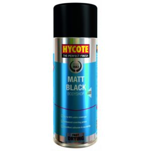 Hycote Bodyshop Matt Black Spray Paint 400Ml Xuk430-0