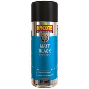 hycote matt black spray paint