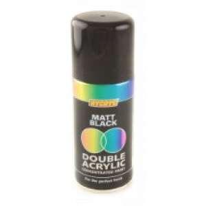 Hycote Matt Black Double Acrylic Spray Paint 150Ml Xdpb905-0