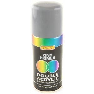 Hycote Zinc Primer Double Acrylic Spray Paint 150Ml Xdpb911-0