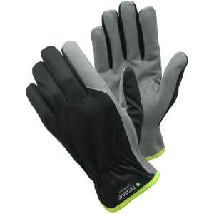 Tegera 321 Synthetic Leather Gloves Black / Grey-0