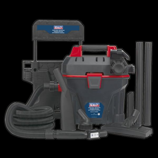 Sealey GV180WM Garage Vacuum 1500W with Remote Control - Wall Mounting-0