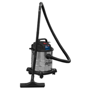 Sealey PC195SD Vacuum Cleaner Wet & Dry 20L 1200W/230V Stainless Drum-0