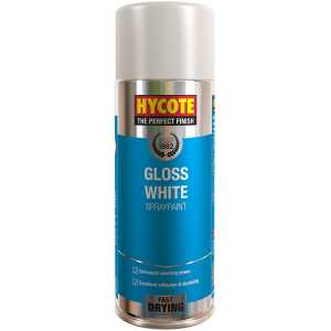 Hycote Gloss White Spray Paint (Pack Of 12 Cans) 400Ml-0