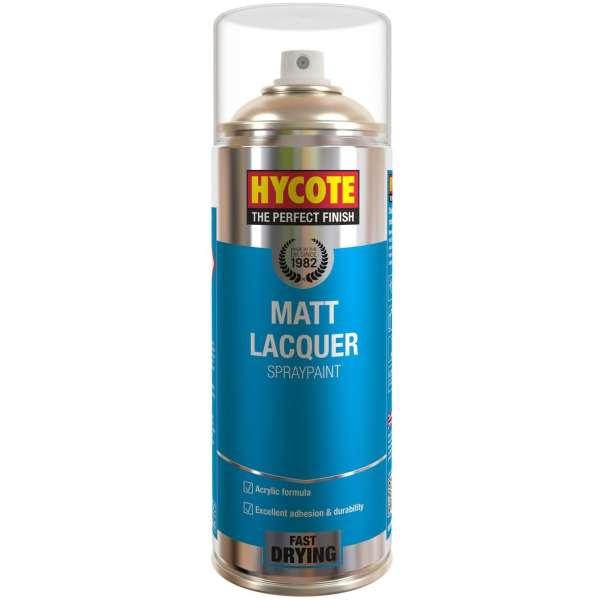 Hycote Clear Matt Lacquer Spray Paint Aerosol 400ml-0
