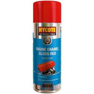 Hycote Engine Enamel Gloss Red Spray Paint 400ml-0