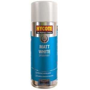 Hycote Matt White Spray Paint 400ml-0
