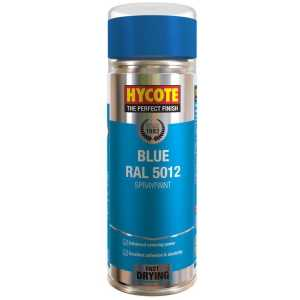 Hycote Blue RAL 5012 Spray Paint Aerosol 400ml-0