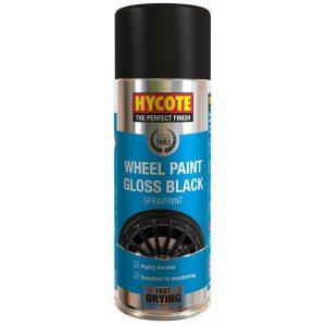 Hycote Gloss Black Wheel Spray Paint 400ml (Anthracite)-0