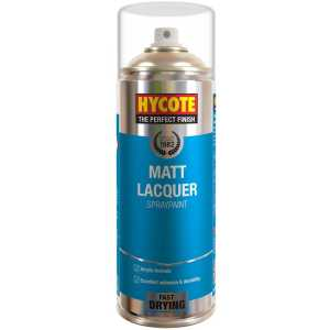 Hycote Clear Matt Lacquer Spray Paint (Pack Of 12 Cans) 400ml-0