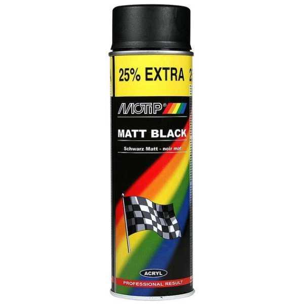 Motip Matt Black Spray Paint 500ml-0