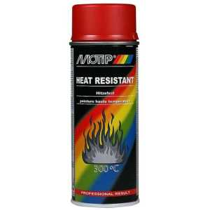Motip Red High Temperature Spray Paint Up To 300 Degrees 400ml-0
