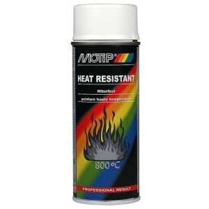 Motip White High Temperature Spray Paint Up To 800 Degrees 400ml-0