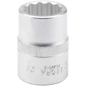 "Elora 24mm 3/4"" Square Drive Bi-Hexagon Socket 00723-0"