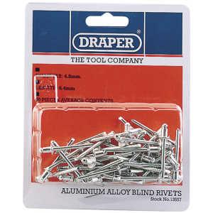 Draper 50 x 4.8mm x 6.4mm Blind Rivets 13557-0