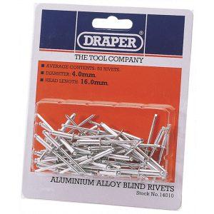 Draper 50 x 4mm x 15.8mm Blind Rivets 14010-0