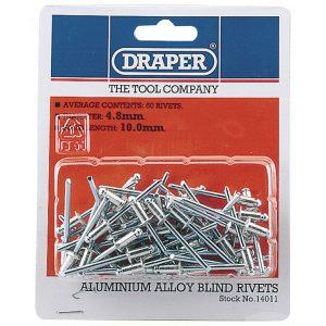 Draper 50 x 4.8mm x 10mm Blind Rivets 14011-0