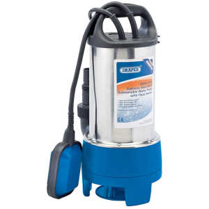 Draper 208L/min 750W 230V Stainless Steel Submersible Dirty Water Pump with Float Switch 25360-0