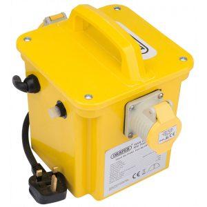 Draper 1kVA 230V to 110V Portable Site Transformer 31262-0