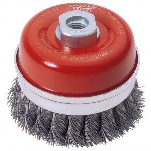 Draper Expert 100mm x M14 Twist Knot Wire Cup Brush 52633-0