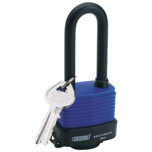 Draper 45mm Laminated Steel Padlock with Extra Long Shackle 64177-0