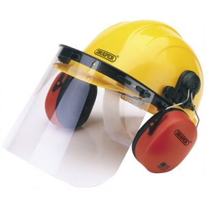 Draper Safety Helmet with Ear Muffs and Visor 69933-0