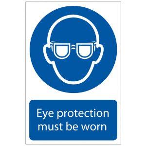 Draper 'Eye Protection' Mandatory Sign 72080-0