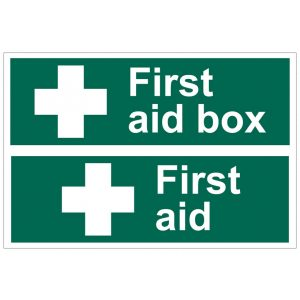 Draper 'First Aid Box' Safety Sign 72542-0