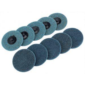 Draper Ten 75mm Polycarbide Abrasive Pads (Fine) 75626-0