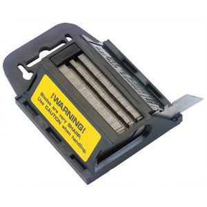 Draper Dispenser of 100 Two Notch Trimming Knife/Window Scraper Blades 88629-0