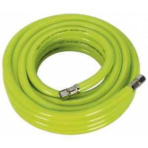 """Sealey AHFC1038 Air Hose High Visibility 10m x Ø10mm with 1/4""""BSP Unions-0"""