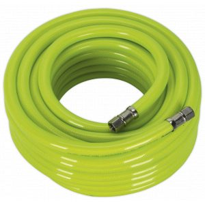 """Sealey AHFC1538 Air Hose High Visibility 15m x Ø10mm with 1/4""""BSP Unions-0"""