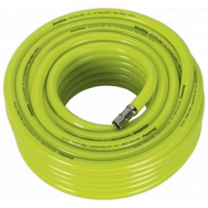 """Sealey AHFC2038 Air Hose High Visibility 20m x Ø10mm with 1/4""""BSP Unions-0"""