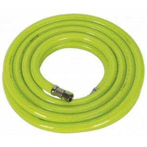 """Sealey AHFC538 Air Hose High Visibility 5m x Ø10mm with 1/4""""BSP Unions-0"""