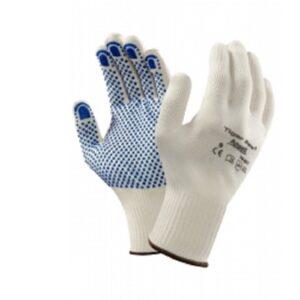 12 Pairs Ansell 76-301 Tiger Paw PVC Dot Grip Gloves-0