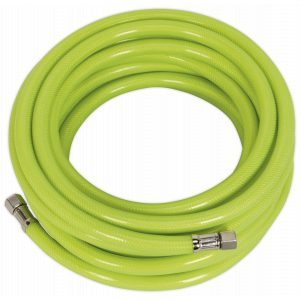 """Sealey AHFC10 Air Hose High Visibility 10m x Ø8mm with 1/4""""BSP Unions-0"""