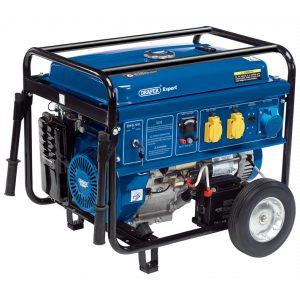 Draper Petrol Generator With Wheels (6.5kva/11kw)-0